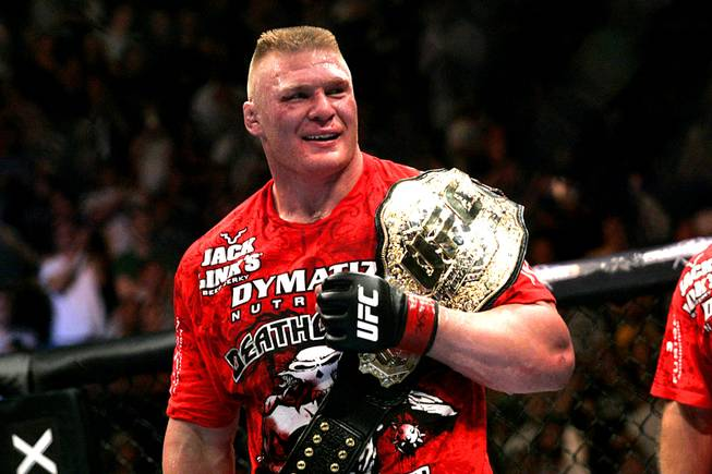 Brock crossover from wrestling to MMA